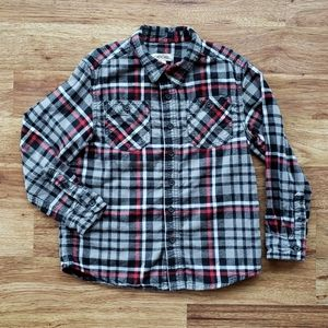2/$13 Cherokee Boys Small Flannel Button Shirt